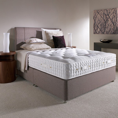 luxury pocket spring bed with grey base