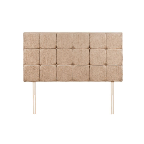 rectangular padded headboard with squared pattern