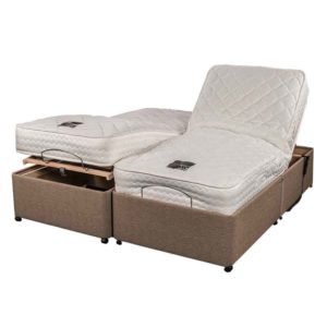 "Sussex Beds - 5'0"" King Size Adjusta-Memory Adjustable Bed"