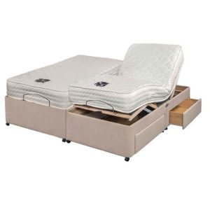 "Sussex Beds - 5'0"" King Size Adjusta-Memory Adjustable 4 Drawer Bed"