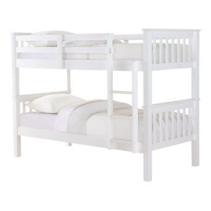 """Sussex Beds - 3'0"""" Single Michigan White Bunk Frame"""