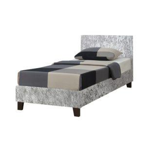 """Sussex Beds - 3'0"""" Fila Steel Crushed Velvet Bedstead"""