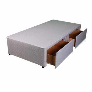 "Sussex Beds - 2'6"" Small Single Platform Top 2 Drawer Base"