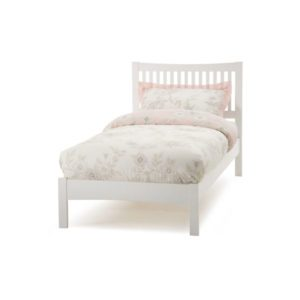 "Sussex Beds - 3'0"" Alpine Opal White Bedstead"