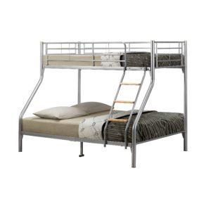 """Sussex Beds - 3'0"""" Atlanta Silver Triple Bunk"""