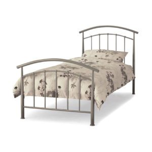 "Sussex Beds - 3'0"" Brighton Pearl Silver Bedstead"