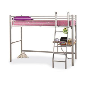 "Sussex Beds - 3'0"" Dallas Silver Studio Sleeper"
