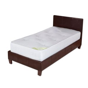"3'0"" Fila Brown Faux Leather Bedstead"