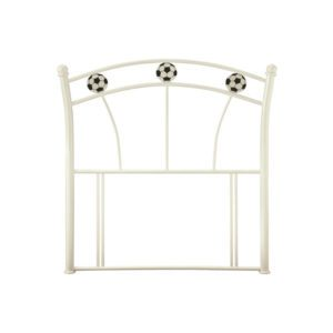"Sussex Beds - 3'0"" Football White Gloss Headboard"