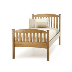 "Sussex Beds - 3'0"" Hawkhurst High Footend Honey Oak Bedstead"