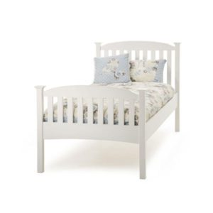 "Sussex Beds - 3'0"" Hawkhurst High Footend Opal White Bedstead"