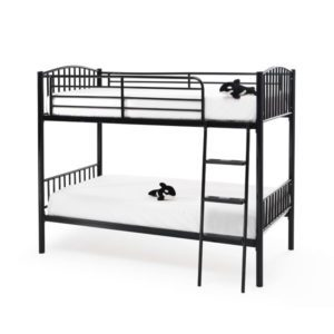 "Sussex Beds - 3'0"" Maplehurst Black Twin Bunk"