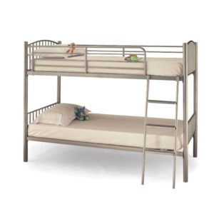 "Sussex Beds - 3'0"" Maplehurst Silver Twin Bunk"