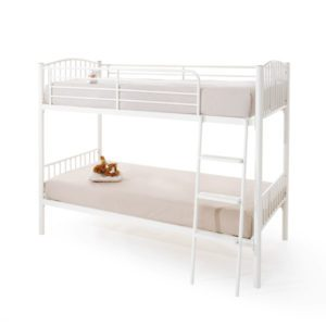 "Sussex Beds - 3'0"" Maplehurst White Twin Bunk"