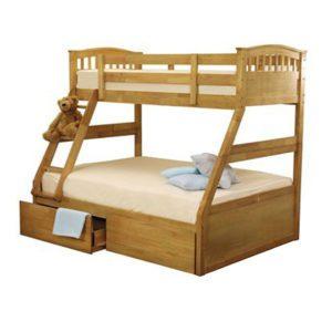 Sussex Beds - Maryland Oak Triple Bunk