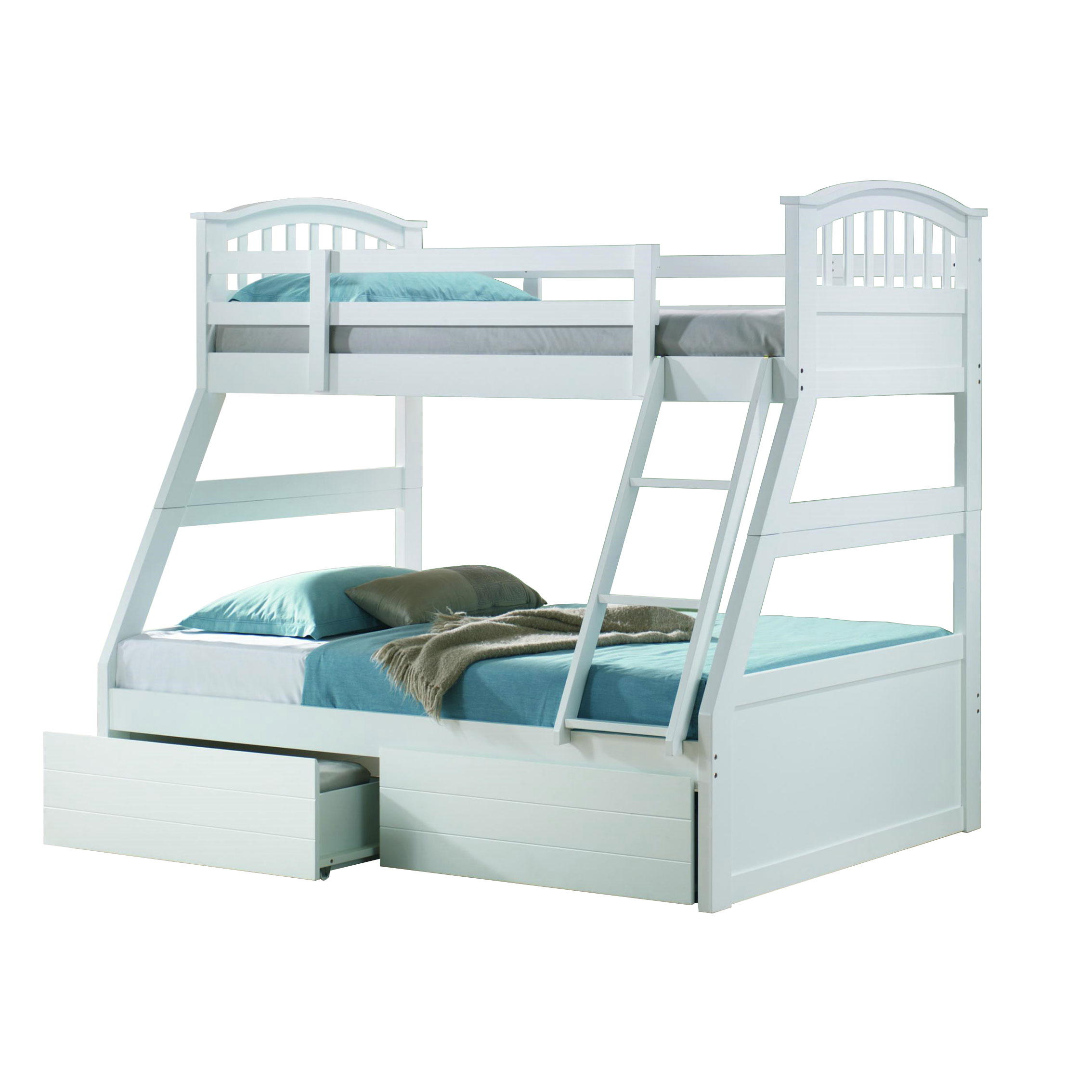 Maryland White Triple Bunk Sussex Beds
