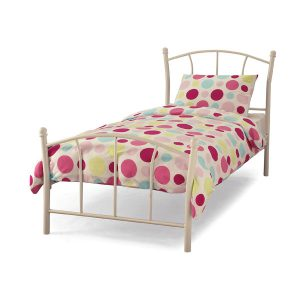 The Miami white bed frame is a delightful single bed frame that would be a great feature in any child's bedroom. Finished with a sprung slatted base - Sussex Beds