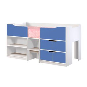 Sussex Beds - 3'0 New York White & Blue Cabin Bed