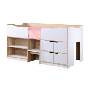 Sussex Beds - 3'0 New York White & Oak Cabin Bed
