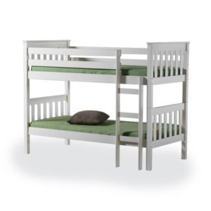"Sussex Beds - 3'0"" Peacehaven Ivory Bunk Bed"