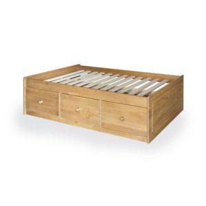 "Sussex Beds - 3'0"" Portland Pine Low Sleeper"