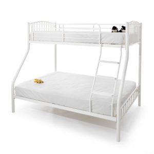 "Sussex Beds - 3'0""/4'6"" Ridgewood White Three Sleeper Bunk"