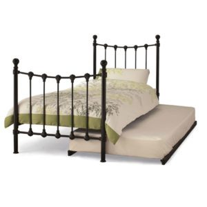 "Sussex Beds - 3'0"" Skye Black Guest Bed"