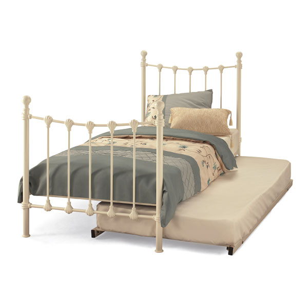"Sussex Beds - 3'0"" Skye Ivory Gloss Guest Bed"