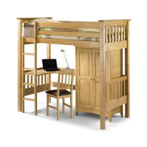 "Sussex Beds - 3'0"" Springfield Pine Highsleeper"