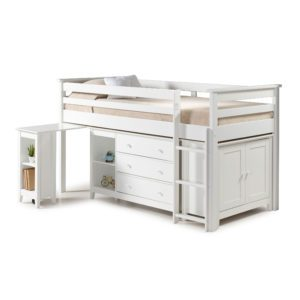 "Sussex Beds - 3'0"" Tucson White Cabin Bed"