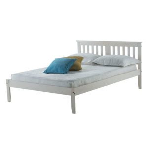 "Sussex Beds - 4'0"" Ewhurst White Washed Bedstead"