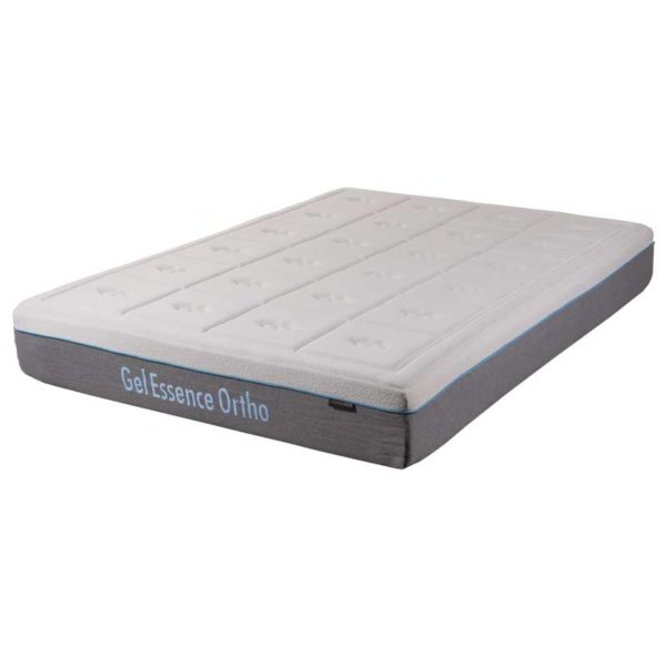 gel essence ortho mattress in stretch knit cover with grey borders