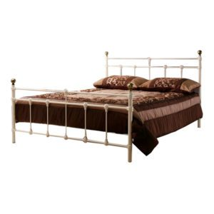"Sussex Beds - 4'0"" Titchfield Cream Bedstead"