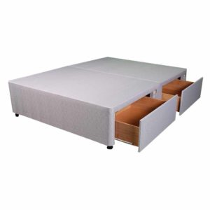 """Sussex Beds - 4'0"""" Small Double Platform Top 4 Drawer Base"""