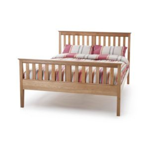 "Sussex Beds - 4'6"" Henley High Footend Oak Bedstead"