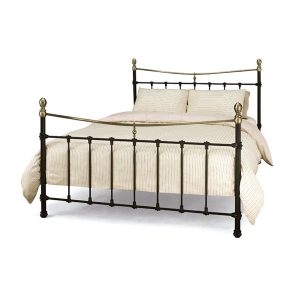 "4'6"" Bedstead - Black w/ Antique Bronze"
