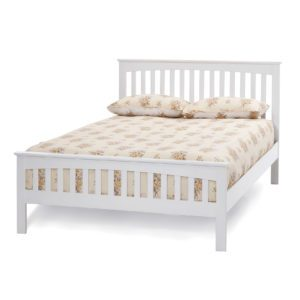 "Sussex Beds - 4'0"" Goodwood Opal White Bedstead"