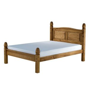 """Sussex Beds - 4'0"""" Guestling Pine Low Foot Bedstead"""