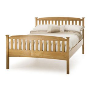 "Sussex Beds - 4'0"" Hawkhurst High Footend Honey Oak Bedstead"