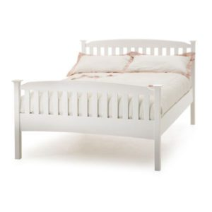 "Sussex Beds - 4'0"" Hawkhurst High Footend Opal White Bedstead"