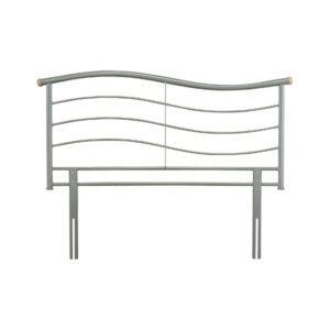 """Sussex Beds - 4'6"""" Rye Silver Headboard"""