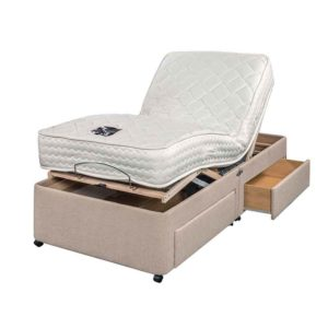 "Sussex Beds - 2'6"" Small Single Adjusta-Memory Adjustable 2 Drawer Bed"
