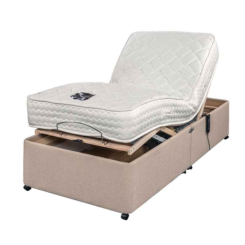 """Sussex Beds - 2'6"""" Small Single Adjusta-Memory Adjustable Bed"""