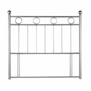 """Sussex Beds - 3'0"""" Single Amesbury Silver Chrome Metal Headboard"""