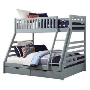 Sussex Beds - Augusta Grey 3 Sleeper Bunk