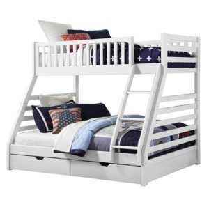 Sussex Beds - Augusta White 3 Sleeper Bunk