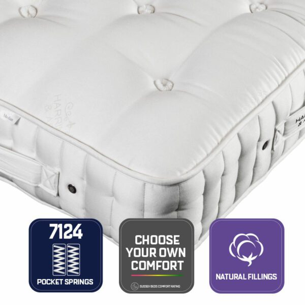 """Sussex Beds - 2'6"""" Small Single Avebury 7124 Mattress, Marquis and Moore"""