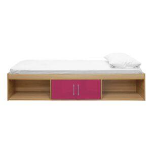 """Sussex Beds - 3'0"""" Single Bedworth Oak/Pink Cabin Bed"""