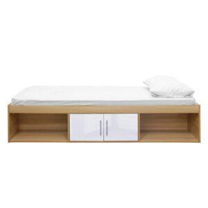 "Sussex Beds - 3'0"" Single Bedworth Oak/White Cabin Bed"