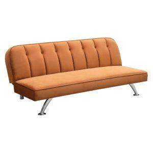 Sussex Beds - Brookwood Orange Sofa Bed